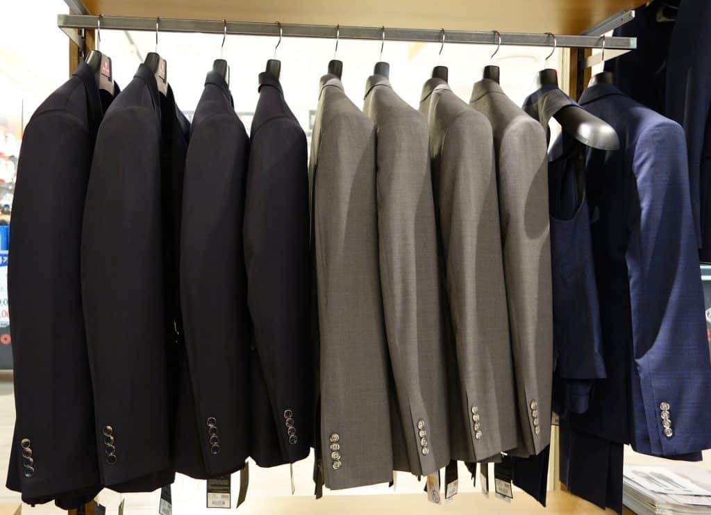 hang your suit jackets before steaming the inside and outside of the garment