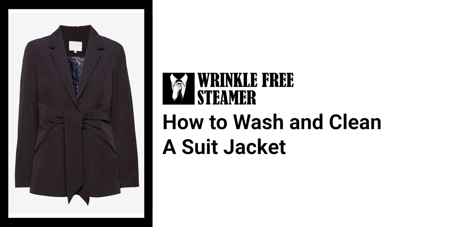 How to Wash and Clean a Suit Jacket