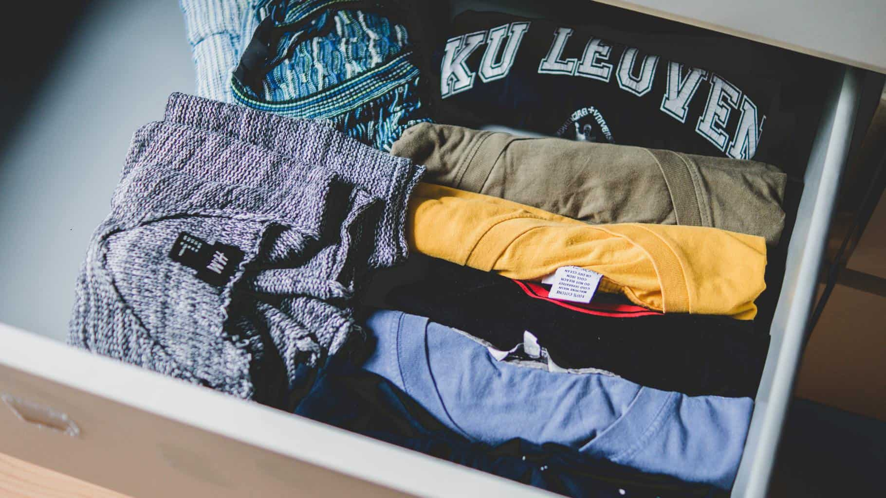 tshirts folded in a cabinet how to fold short sleeve shirts